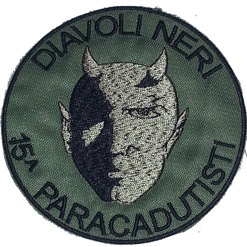 Patch omerale 5° battaglione Par. 15  compagnia DIAVOLI NERI  PTC ... 75119d290de7