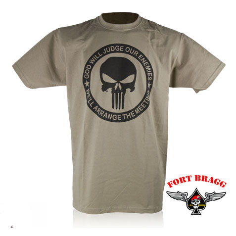 T SHIRT MAGLIETTA AMERICANA KAKI PUNISHER
